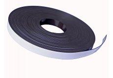 White pvc magnetic tape  0,79in X 0,08in X 54,7yds