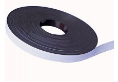 White pvc magnetic tape  1,02in X 0,05in X 54,7yds